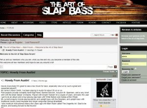 kevin smith from austin post on slap bass website