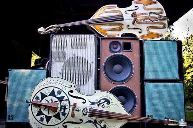 BNA bass cabinet for slap upright bass