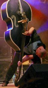 Didi Beck with upside down slap bass