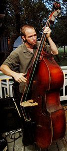 ryan gould from austin texas plays upright bass