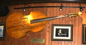 marshall lytle's bass from rock around the clock at hard rock cafe in orlando florida